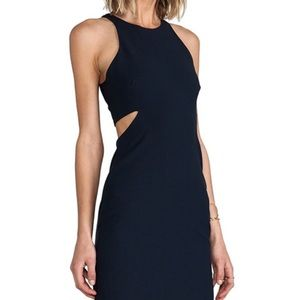 Elizabeth and James Black Side Cut Out Dress 2
